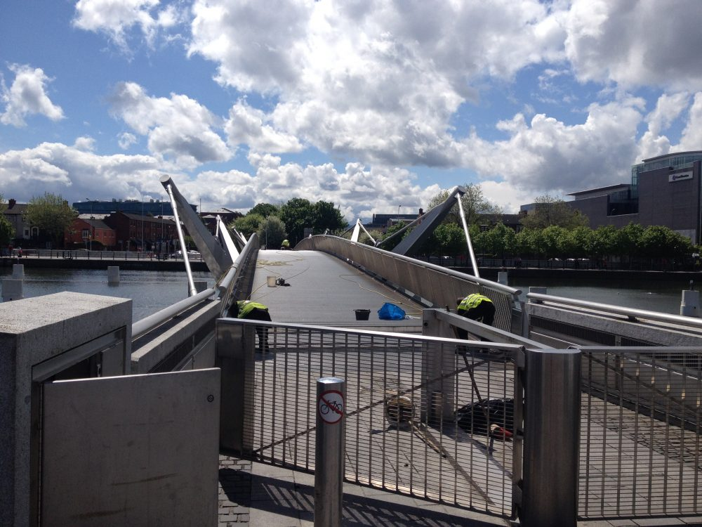 Hydraulics services performed by Control Hydraulics on Sean O'Casey Bridge in Dublin Docklands